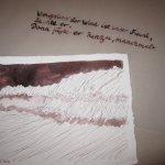 Ich schreibe das Zitat auf Pergamentpapier - Foto von Susanne Haun