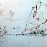 Landschaft der Engel - Entstehung Rolle von Susanne Haun