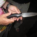 Ein handgeschmiedetes Messer von Christoph M. Beysser - ich habe leider die Technik vergessen und den Namen des Messer vergessen