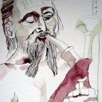 Wenn ferner Spielleute - Zeichnung von Susanne Haun - 40 x 30 cm - Tusche auf Bütten