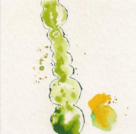 Frage - Entscheidung - hell - 3 - Zeichnung von Susanne Haun - 20 x 20 cm - Tusche auf Bütten