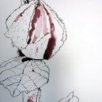 Und jede geschlossene Blüte birgt eine Überraschung - Auschnitt Zeichnung von Susanne Haun 200 x 40 cm