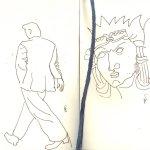 Für Skizzen in aller Ruhe blieb keine Zeit - Skizze von Susanne Haun