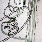Kürbisranken - Zeichnung von Susanne Haun - Tusche auf Bütten - 10 x 15 cm