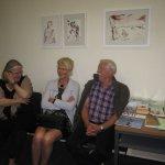 Ausklang der Ausstellung Linienspiele in Altenahr - Foto von Susanne Haun