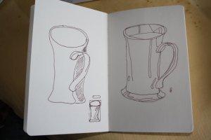 Tassen - Skizzen von Susanne Haun