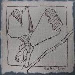 Blüte 5 - Zeichnung von Susanne Haun - Tusche auf Bütten - 10 x 10 cm