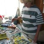 Gabi Stark bei der Arbeit fotografiert von ihrem Bruder
