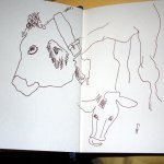 Skizze Kühe auf der Weide Seite 1 von Susanne Haun