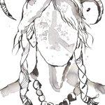 Ein Dämon werde ich - Version 1 - Zeichnung von Susanne Haun - Tusche auf Bütten - 22 x 17 cm