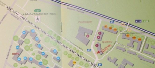 Ausschnitt Karte um das Atelier Susanne Haun