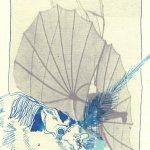 Fledermaus 1 - Überzeichnung von Susanne Haun - Tusche auf Bütten 30 x 20 cm