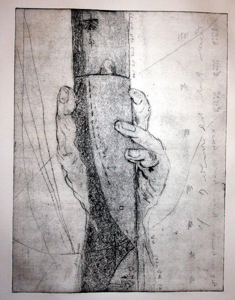 Lilienthal - Radierung von Susanne Haun - Aquatinta 30 x 40 cm auf Hahnemühle Kupferdruckkarton