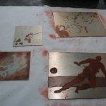 Auflagen drucken rot (c) Foto von Radierungen von Susanne Haun