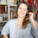 Cordula Kerlikowsi in einer Arbeitspause (c) Foto von Susanne Haun