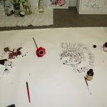 Entstehung einer rote Blume (c) Zeichnung von Susanne Haun (2)