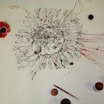 Entstehung einer rote Blume (c) Zeichnung von Susanne Haun (5)