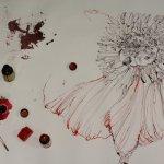 Entstehung einer rote Blume (c) Zeichnung von Susanne Haun (7)
