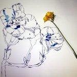 Entstehung Freesie und Größenvergleich (c) Zeichnung von Susanne Haun (3)