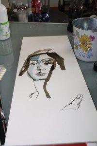 Entstehung Maria Magdalena (c) Zeichnung von Susanne Haun