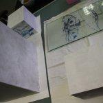 Wie ich es schon auf dem Papier geplant habe - der Sockel wird weiß grundiert (c) Foto von Susanne Haun (2)
