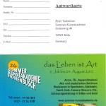 Antwortkarte 24. Sommerakademie Hohenbusch