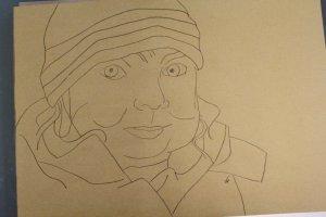 Merle auf Hahnemühle Kraftpapier (c) Zeichnung von Susanne Haun