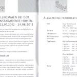 Informationen zur 24. Sommerakademie Hohenbusch