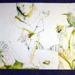 Entstehung Eldorado - Tusche auf Bütten - 70 x 100 cm (c) Zeichnung von Susanne Haun