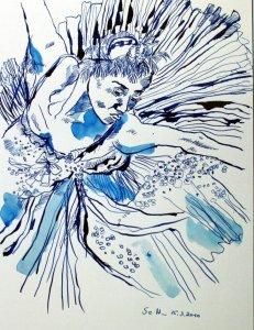 Bewegung und Tanz 2010 (c) Zeichnung von Susanen Haun
