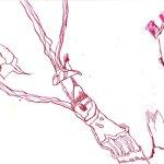 Geschnittene Rosen Teil 1 17 x 22 cm (c) Zeichnung von Susanne Haun