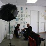 Christiane Weidner Im Gespräch mit dem Fotografen der MoPo (c) Foto von Susanne Haun