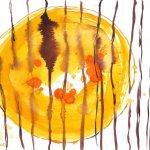 Sunny side up auf der Steak-Brat-Pfanne (c) Zeichnung von Susanne Haun