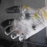 Ich wechsel bei jeder Farbe die Handschuhe (c) Susanne Haun