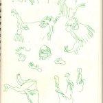 Vor den Orang Utha Käfig (c) Skizze von Susanne Haun (2)