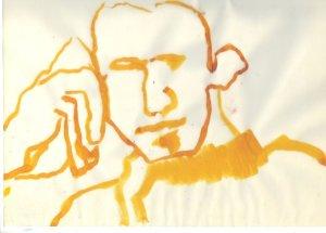 Silhouette Gelb Boccioni (c) Zeichnung von Susanne Haun