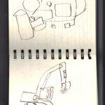 Auf der Baustelle (c) Skizzen von Susanne Haun