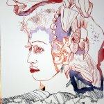 Die Lilie 40 x 30 cm Tusche auf Bütten (c) Zeichnung von Susanne Haun