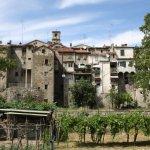 Portica di Romagna vom Montone aus gesehen (c) Foto von Susanne Haun