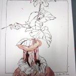 Umschlungen Version 2 Zeichnung auf Bütten 50 x 60 cm (c) Zeichnung von Susanne Haun