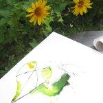Ich mag die Ranken und Blätter der gelben Blume (c) Foto von Susanne Haun (2)