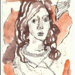Die Kette Tusche auf Bütten 20 x 15 cm (c) Zeichnung von Susanne Haun