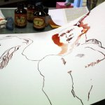 Entstehung Engel Raphael (c) Zeichnung von Susanne Haun