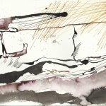 Die Auflösung der Schlüssel 17 x 22 cm Tusche auf Bütten (c) Zeichnung von Susanne Haun (3)