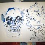 Ich habe die Spalte vor Augen (c) Zeichnung von Susanne Haun