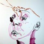 Ich sezte mir einen Butterfly auf den Kopf (c) Zeichnung von Susanne Haun