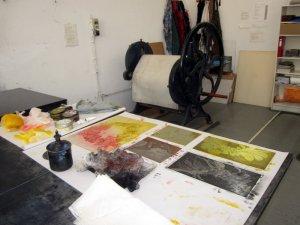 Ich drucke Auflage in Bethanien (c) Radierplatten von Susanne Haun