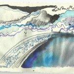 Blatt 2 Das blaue Gewölbe aus der heiligen Antonius (c) Zeichnung von Susanne Haun