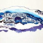 Die Welle entsteht und kommt auf mich zu (c) Zeichnung von Susanne Haun