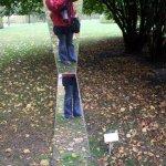 Ich in einer Skulptur von Simon Jorgen Simonsen (c) foto von Susanne Haun